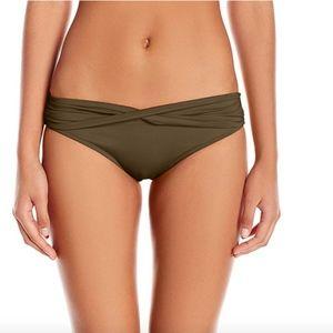 Seafolly Twistband Dark Olive Bikini Bottom L